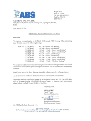 ABS CLASSIFICATION WPS